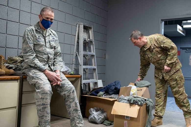 Youngstown Air Reserve Station showed its support for the new Air Force Junior Reserve Officers' Training Corps program at Austintown Fitch High School by donating more than 70 Airman battle uniforms Jan. 11, 2021.