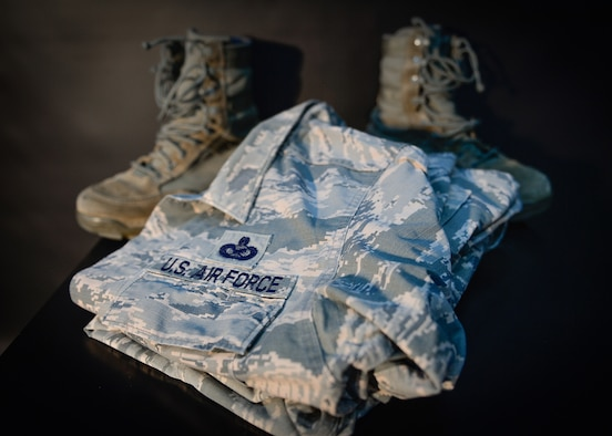 Folded ABU uniform and boots