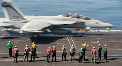 USS Nimitz (CVN 68) conducts flight operations in the north Arabian Sea.