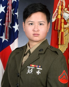 Lance Cpl. Melody Cheng, legal clerk, Office of the Staff Judge Advocate, Marine Corps Logistics Base Albany, was recently selected as the Marine Corps Installations-East, Marine Corps Base Camp Lejeune, Marine of the Year for 2020. (U.S. Marine Corps photo by Jennifer Parks)