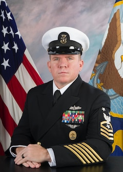 Studio portrait of CMDCM Lance M. Connolly