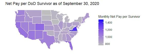 The average Net Pay per Survivor as of September 30, 2020.