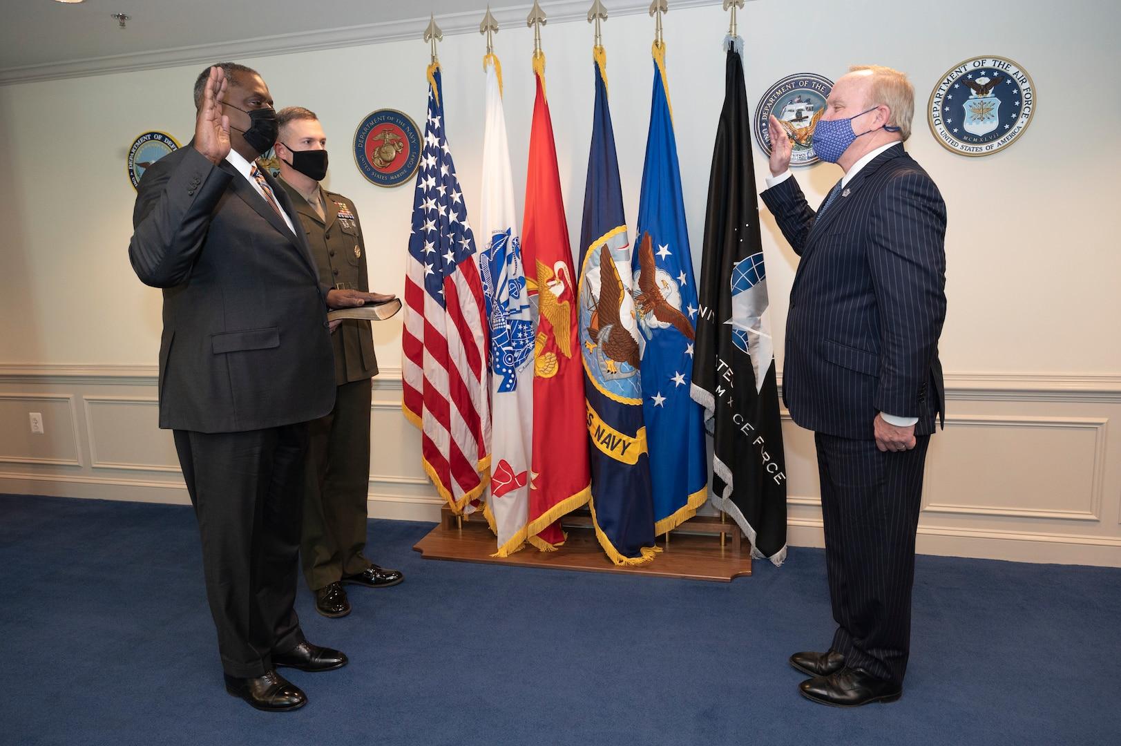 Lloyd J. Austin III as secretary of defense