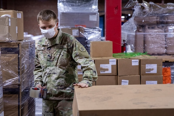 NAVSUP WSS, 393rd Medical Logistics Company Prepare Medical Supplies for International Partners