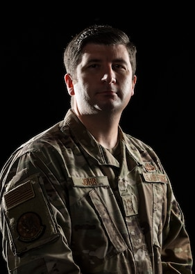 Portrait of U.S. Air Force Senior Master Sgt. Kyle Johr, 52nd Operations Support Squadron chief controller.
