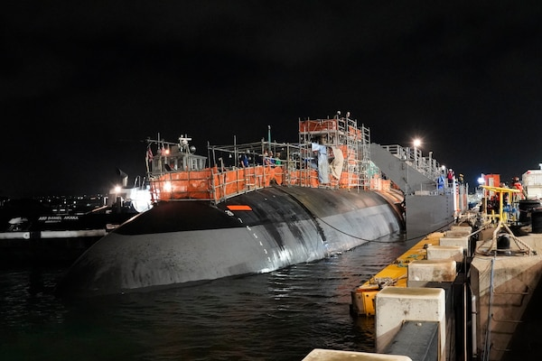 Pearl Harbor Naval Shipyard & Intermediate Maintenance Facility successfully undocked USS Charlotte (SSN 766) Jan. 26 from Dry Dock #3. The undocking was a major milestone in the submarine's engineered overhaul availability.