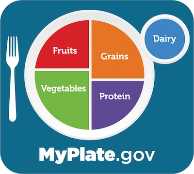 """The Agriculture Department's """"My Plate"""" program helps people understand nutrition."""
