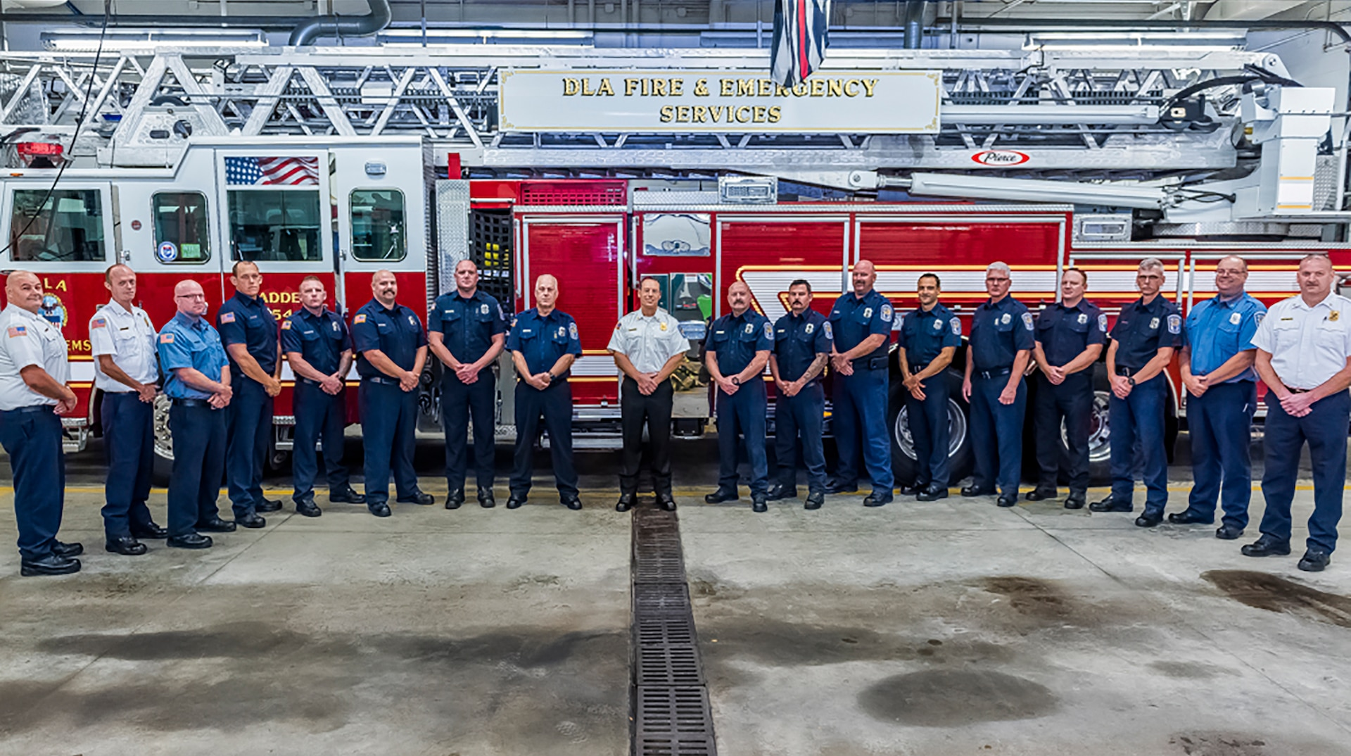 Group photo of Fire Department