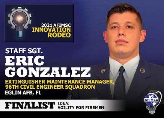 2021 AFIMSC Innovation Rodeo finalist spotlight graphic
