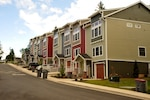 Twelve new housing units have been added to Culp Court within the Coast Guard Triumph Housing Complex in Astoria, Ore., and families can begin moving in June 27, 2019.  The 12 new units plus a maintenance and operations building complete phase II of a housing project that has cost a total of $19.3 million to complete.  U.S. Coast Guard photo by Petty Officer 3rd Class Trevor Lilburn.