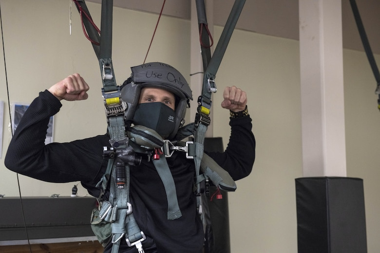 Photo of person in training gear.