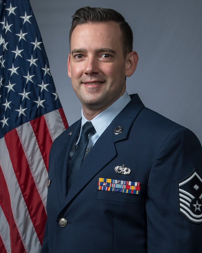 Official Air Force photo for Master Sgt. John Hendrix. Assigned to the 131st Maintenance Squadron, Hendrix is the 131st Bomb Wing First Sergeant of the Year. (U.S. Air National Guard photo by Tech. Sgt. John E. Hillier)