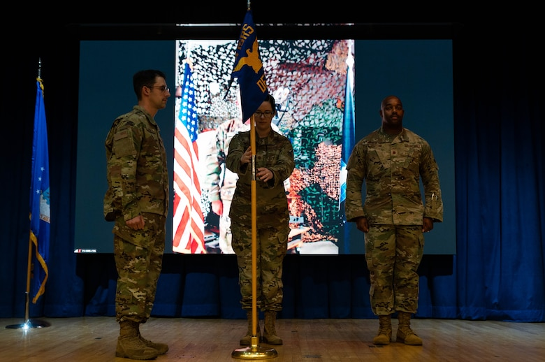 The 73rd Intelligence, Surveillance, and Reconnaissance Squadron Detachment 2 held a change of command ceremony at Osan Air Base, Republic of Korea, June 30, 2021. Maj. Rachel Johnston transferred command of the 73rd ISRS Det 2 to Maj. Kenneth Jenkins II.