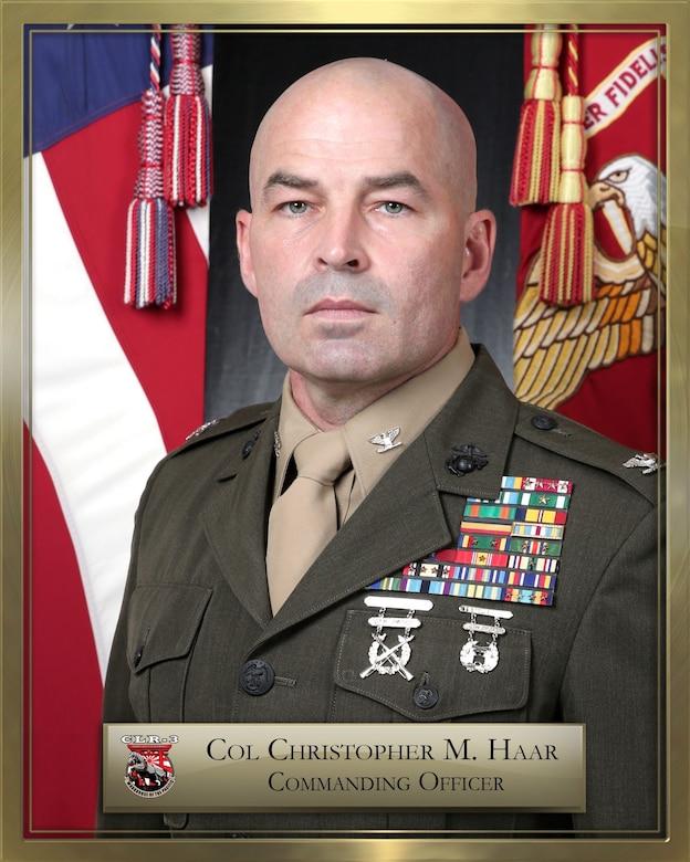 Col. Christopher Haar official bio. photo