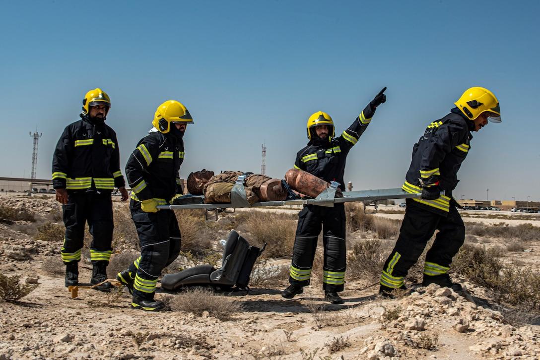 379th AEW, QEAF execute interoperability emergency operations