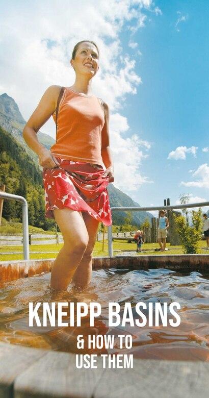 Woman uses Kneipp basin