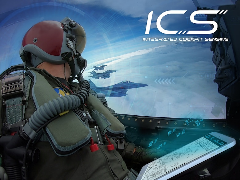 The Integrated Cockpit Sensing system will monitor the pilot's physical state and ensure his or her ability to fly safely and accomplish the mission. (U.S. Air Force graphic/Stephanie Mee)