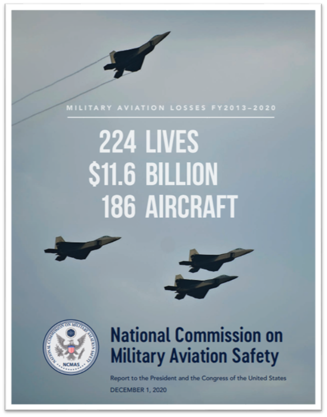 The cover page of the National Commission on Military Aviation Safety report. (Courtesy image)