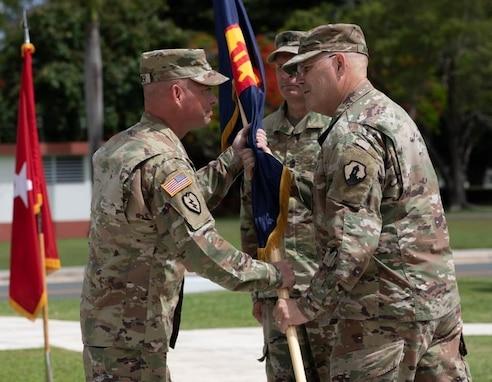 U.S. Army Reserve-Puerto Rico change of responsibility ceremony