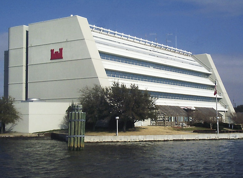 The Waterfield Building, located on the grounds of historic Fort Norfolk, opened in 1983 and serves as the headquarters for the Norfolk District, U.S. Army Corps of Engineers.