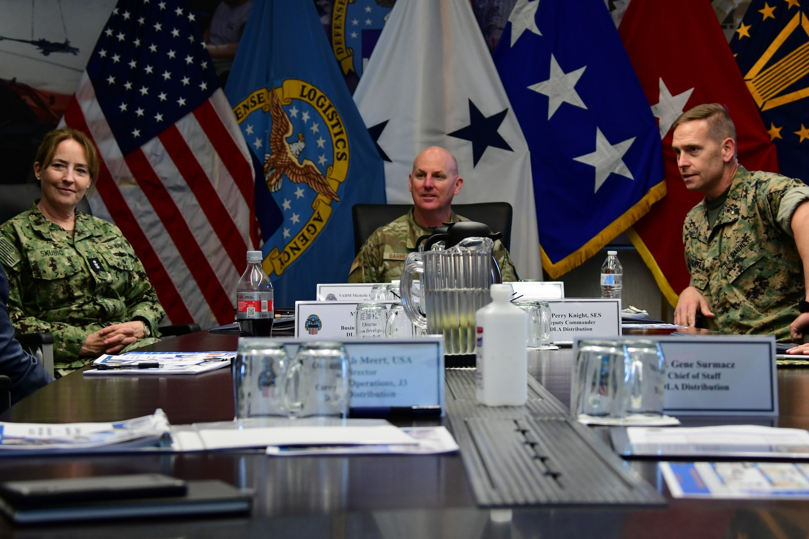 Air Force and Navy logistics leaders visit DLA Distribution