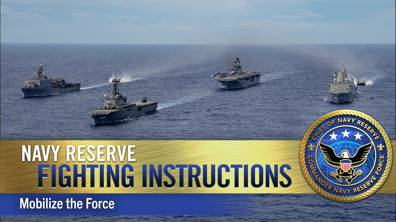 Navy Reserve Fighting Instructions Video Series – Mobilize the Force graphic (U.S. Navy graphic by Commander, Navy Reserve Force Public Affairs)