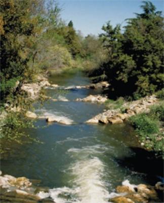 A photo of Upper Guadalupe River in San Jose, Calif.