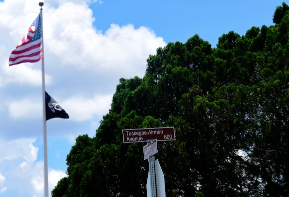 Street naming ceremony at Sheppard Air Force base honors the Tuskegee Airmen