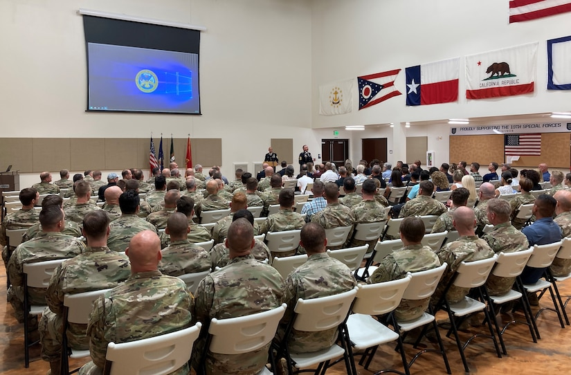 A retirement ceremony was held for Sgt. Maj. Jason R. Legler at the Aaron Butler Readiness Center, Camp Williams, Utah, June 23, 2021. Legler last served as command sergeant majorof the 19th Special Forces Group (Airborne).