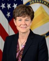 Elizabeth F. Wilson poses for her official portrait in the Army portrait studio at the Pentagon in Arlington, Va., Dec. 1, 2017.