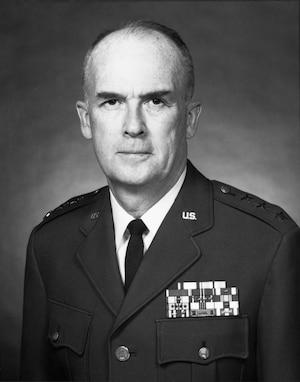 A portrait of Lt Gen Charles P. McCausland