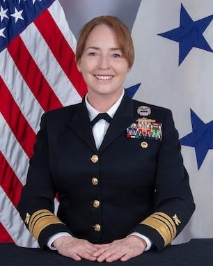 A portrait of VADM Michelle C. Skubic