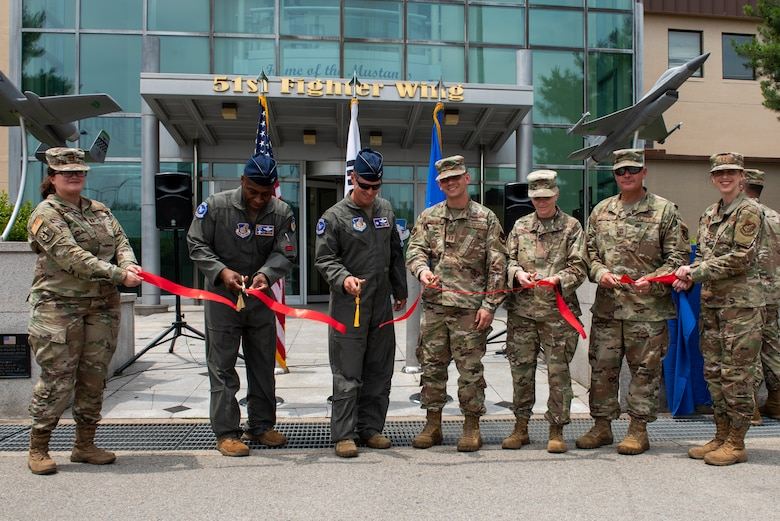 The 51st Fighter Wing held a renaming and ribbon cutting ceremony for its headquarters building at Osan Air Base, Republic of Korea, July 1, 2021. The building, which serves as the 51st Fighter Wing headquarters, was dedicated to Brig. Gen. Benjamin O. Davis Jr. in recognition of his 34 years of service that spanned across World War II, Vietnam, Korea and the Cold War.