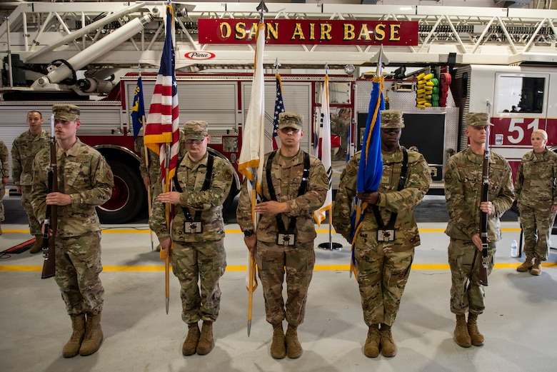 51st Civil Engineer Squadron held an assumption of command ceremony at Osan Air Base, Republic of Korea, July 6, 2021. Lt. Col. Brian Low assumed command of the 51st CES.