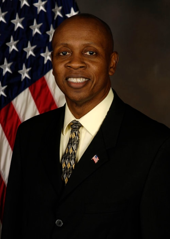 Dr. Edmund Moore, a senior engineer with AFRL's Aerospace Systems Directorate, smiles for his official portrait at Wright-Patterson Air Force Base, Ohio. Moore was nominated for the AFMC 2021 National Public Service Award. (Courtesy photo)