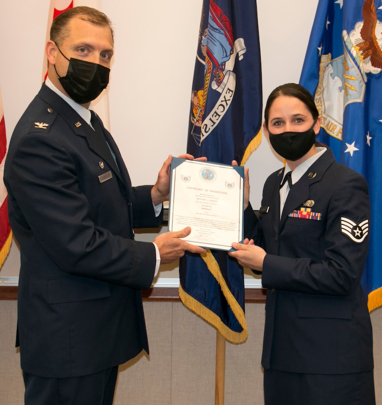 Carrier promoted to technical sergeant