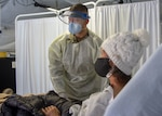 COVID-19 patient gets treatment
