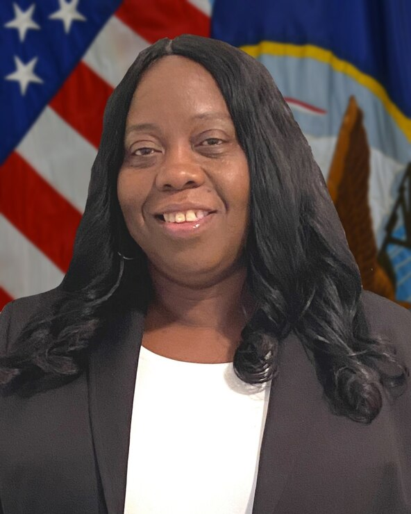 """Official photo of Ms. Crystal Taylor, IT Professional at Southeast Regional Maintenance Center (SERMC). Taylor, an IT professional at Southeast Regional Maintenance Center (SERMC), was recognized by the annual Women of Color (WOC) STEM (Science, Technology, Engineering & Math) Magazine as a """"Technology All Star."""""""