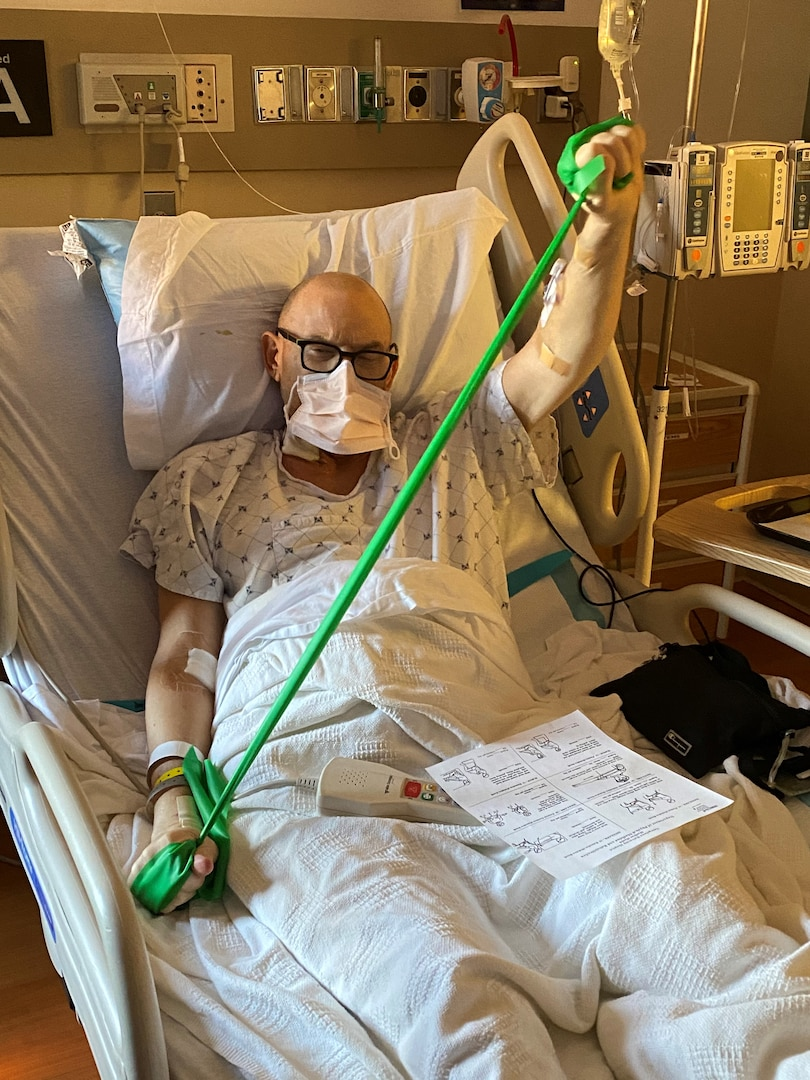 In March 2021, Lawson recovers just two days after liver transplant surgery at MedStar/Georgetown Hospital, District of Columbia