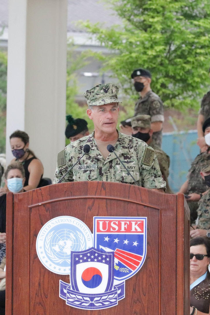"""Admiral Chris """"Lung"""" Aquilino USFK Change of Command"""