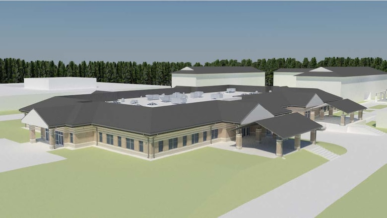 Rendering of construction project