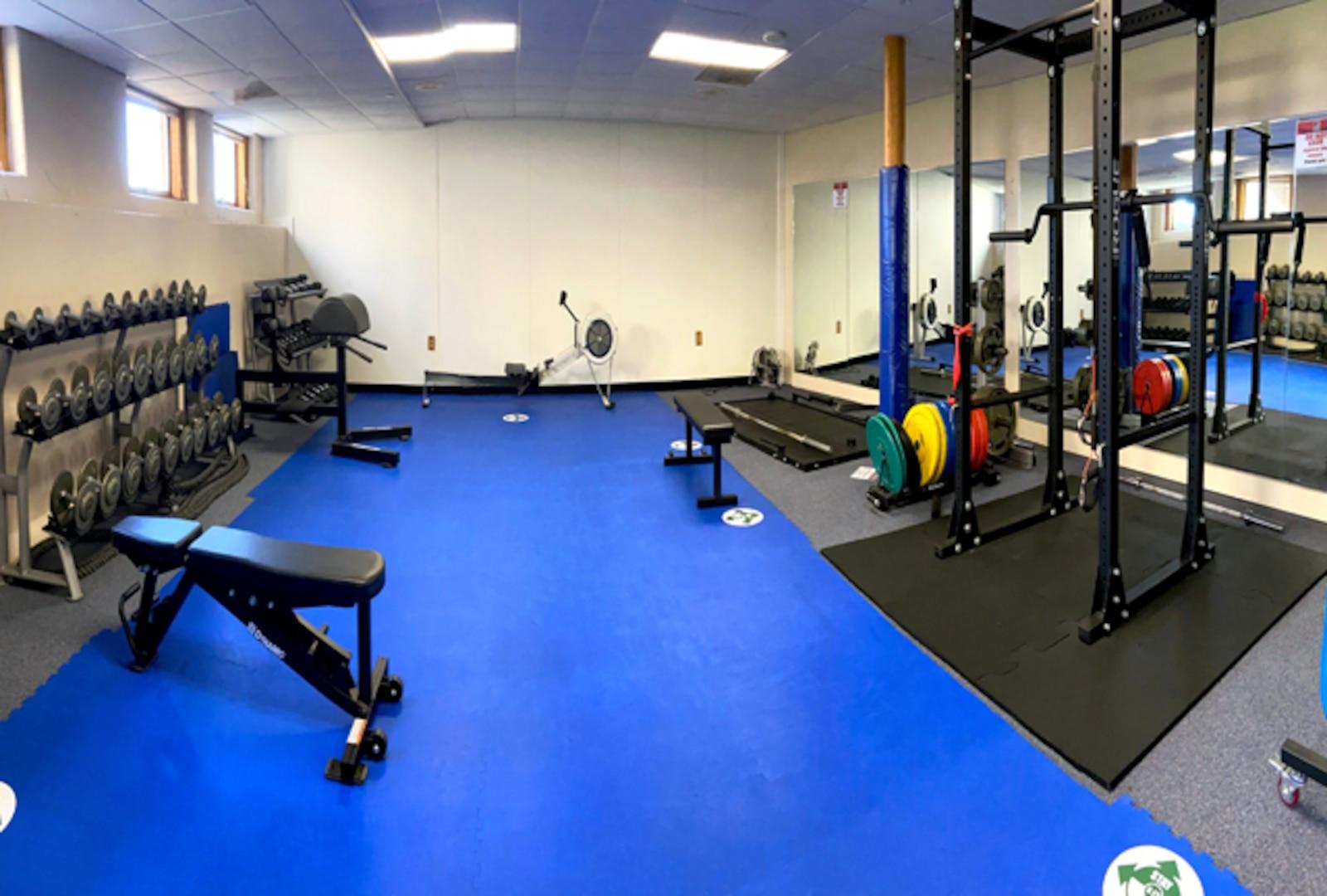 Fitness room featuring cardio equipment - i.e., treadmills, ellipticals and recumbent bikes.