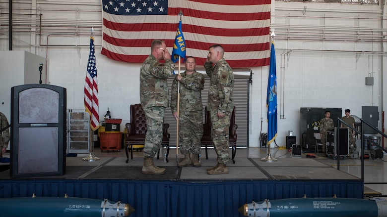 A photo of Airmen during a ceremony