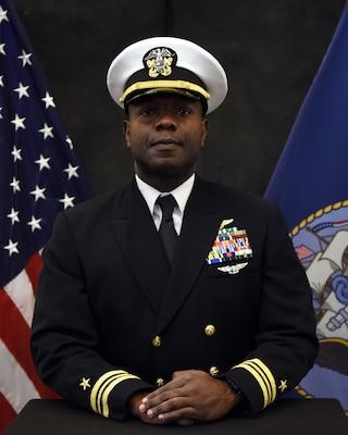 Great Lakes, Ill (April 27, 2021) Official photo of Lt. Cmdr. Allen T. Keys (U.S. Navy photo by Matt Mogle)