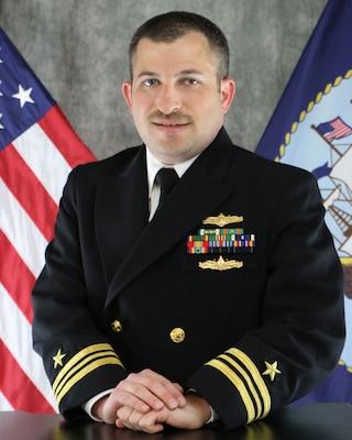 PENSACOLA, Fla. (June 3, 2021) Official portrait of Lt. Cmdr. Jordan Adler. (U.S. Navy photo)