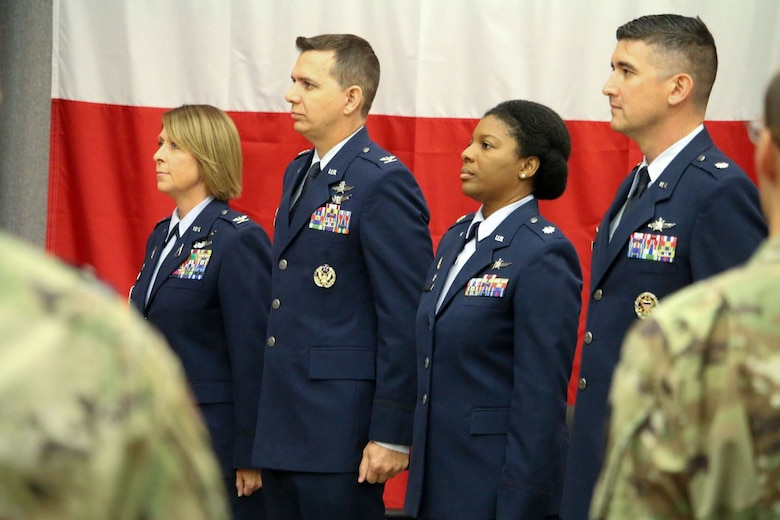 stand for the National Anthem during a relinquishment of command