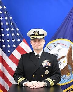 Studio portrait of Commander Michael Chesnut