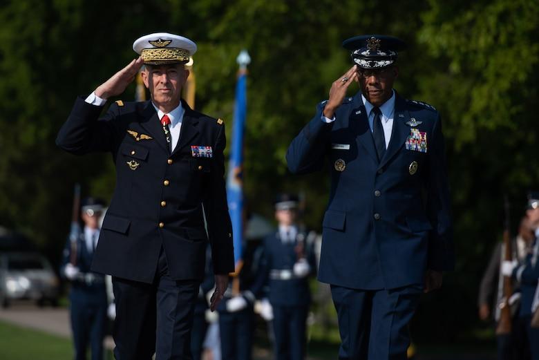 Generals saluting
