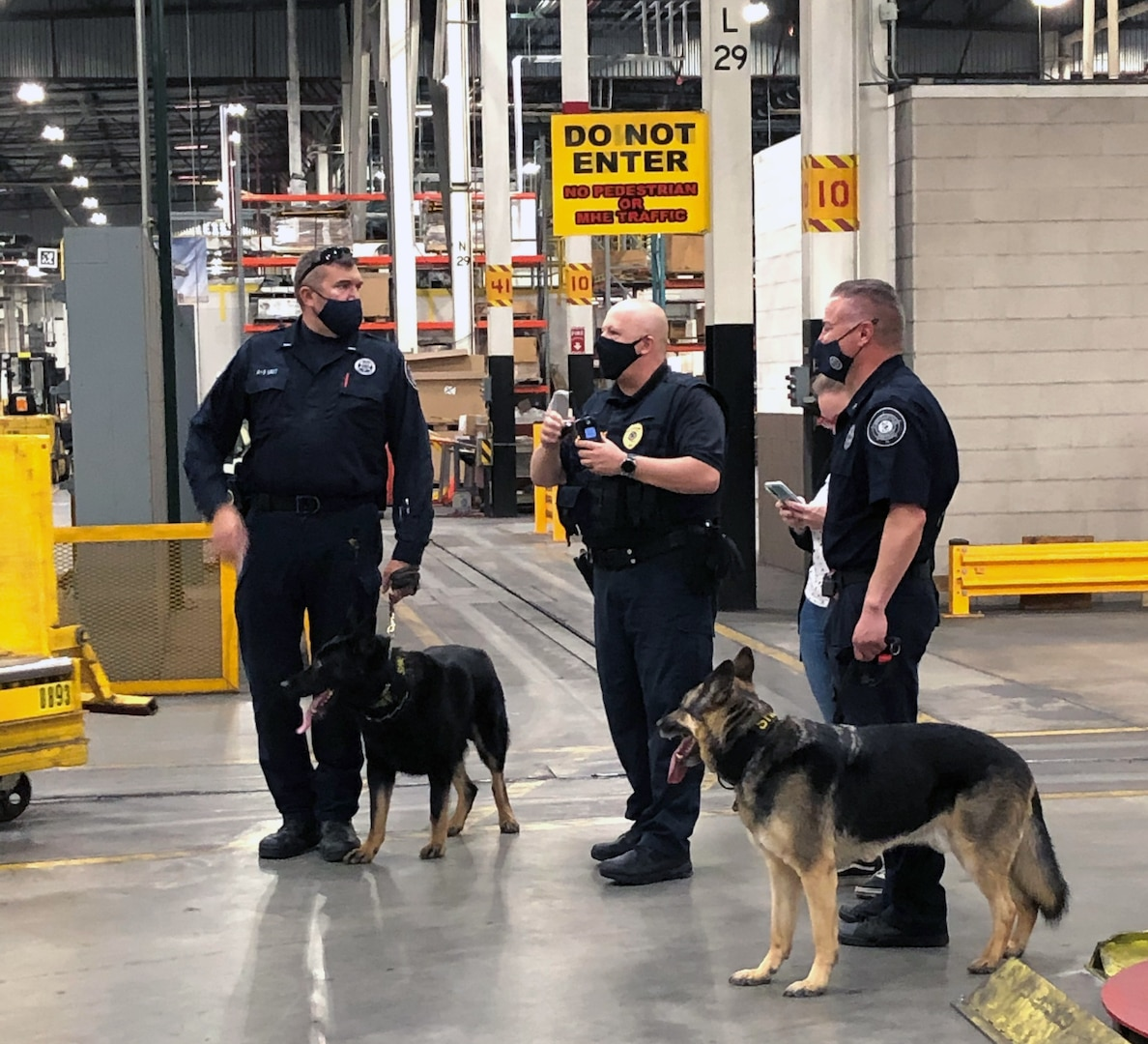 DLA police and local counterparts conduct canine focused force protection measure at DLA Distribution Susquehanna
