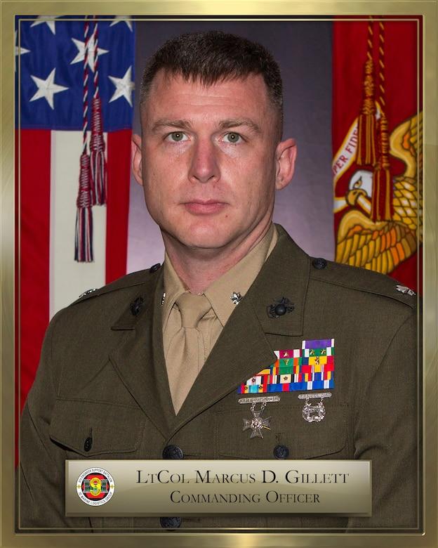Lieutenant Colonel Marcus D. Gillet official biography photo